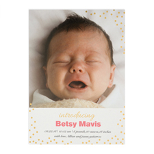 Create Your Own Introducing Foil Gold Personalised Birth Announcement, 5
