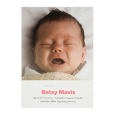 Create Your Own Introducing Foil Silver Personalised Birth Announcement, 5