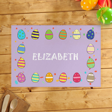 Personalised Girl's Easter Egg Placemats