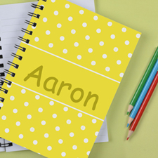 Personalised Lemon Dots Notebook