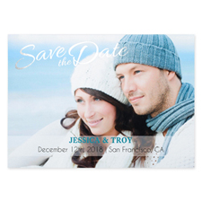 Create Your Own Charmed Foil Silver Personalised Wedding Save The Date Card Card Invites