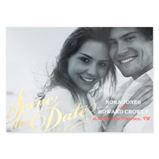 Sweet Embrace Foil Gold Personalised Photo Save The Date Cards