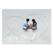 Hold The Date Foil Silver Personalised Photo Save The Date Cards
