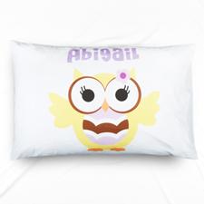 Lemon Owl Personalised Name Pillowcase