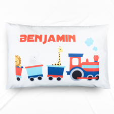 Train Personalised Name Pillowcase