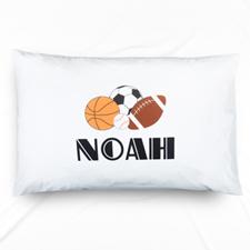 Sports Personalised Name Pillowcase
