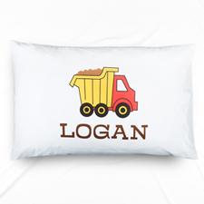 Truck Personalised Name Pillowcase