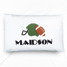 Football Personalised Name Pillowcase For Kids