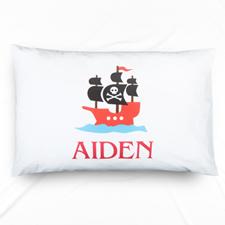 Pirate Personalised Name Pillowcase