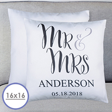 Mr. And Mrs. Personalised Pillow Cushion Cover 16
