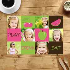 Personalised Six Collage Placemats