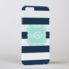 Navy Stripe Personalised Phone Case, iPhone 6