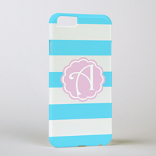 Ocean Stripe Personalised Phone Case, iPhone 6