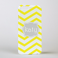 Lemon Chevron Personalised iPhone 6 Case