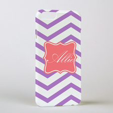 Lavender Chevron Personalised iPhone 6 Case