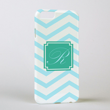 Aqua Chevron Personalised iPhone 6 Case