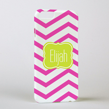 Fuchsia Chevron Personalised iPhone 6 Case