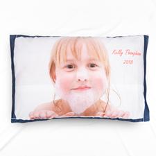 Navy Frame Personalised Photo Pillowcase