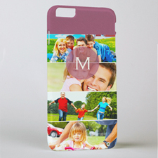 Six Collage Photo Initial Personalised iPhone 6+ Case