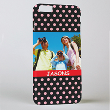 Polka Dots Personalised Photo iPhone 6+ Mobile Case