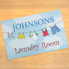 Laundry Room Personalised Doormat