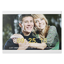 Glitter Big Statement Personalised Photo Save The Date Cards