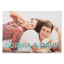 Glitter Flag The Date Personalised Photo Save The Date Cards