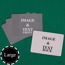Personalised Large Size Landscape Custom Cards (Blank Cards) Playing Cards