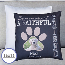 Faithful Friend Personalised Pillow Cushion Cover 16