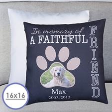 Faithful Friend Personalised Large Cushion 18