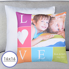 Love Photo Personalised Large Cushion 18
