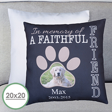 Faithful Friend Personalised Large Pillow Cushion Cover 20