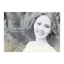 Foil Gold Refined Graduation Personalised Photo Graduation Announcement Cards