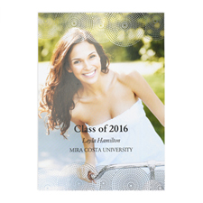 Foil Silver Perfect Graduate Personalised Photo Graduation Announcement Cards