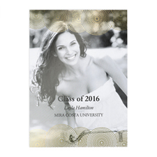 Foil Gold Perfect Graduate Personalised Photo Graduation Announcement Cards