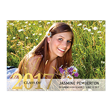Foil Gold Whimsy Graduate Personalised Photo Graduation Announcement Cards