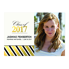 Foil Gold Deco Graduate Personalised Photo Graduation Announcement Cards