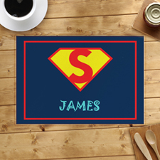 Super Hero Boy Personalised Placemat