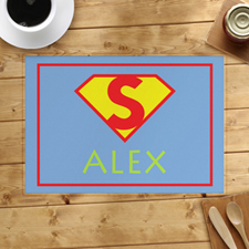 Super Hero Girl Personalised Placemat