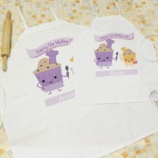 Baking Our Muffins Personalised Adult Kids Apron Set