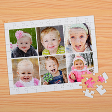 Personalised Kids Six Collage Puzzles