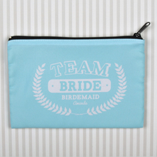 Team Bride Personalised Cosmetic Bag, 6