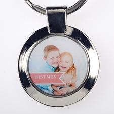 Best mum Personalised Round Keychain (Small)