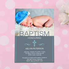 Baptism Honoring Personalised Invitation Card Cards
