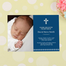 Cross Personalised Baptism Invitation Cards
