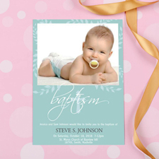 Baptism Tree Personalised Invitation Cards