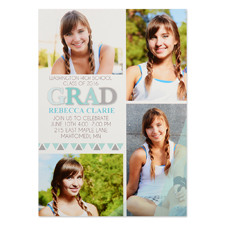 Badge Of Honor Personalised Graduation Invitation Cards