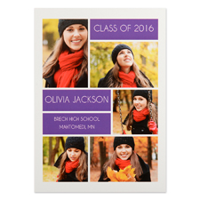Grad Collage Personalised Graduation Invitation Cards
