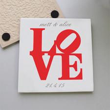 Love Personalised Tile Coaster