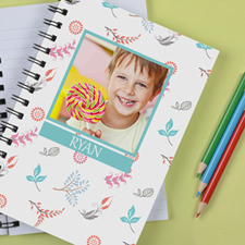 Personalised Cute Floral Notebook
